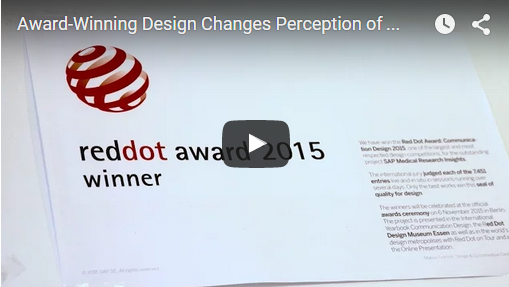 SAP wins prestigious Red Dot Design Award for the user experience design of SAP Fiori