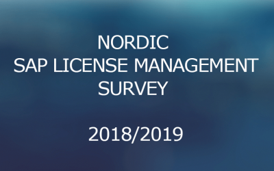 Nordic SAP License Management Survey 2018/2019