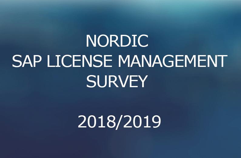 Nordic SAP License Management Survey 2018/2019